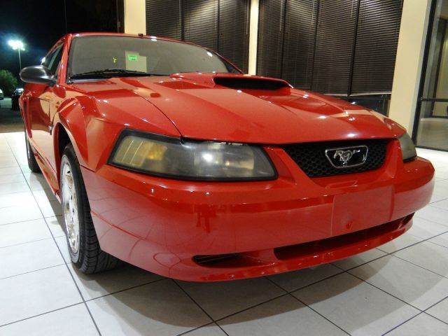 2002 FORD MUSTANG BASE 2DR COUPE red 16 inch wheels anti-theft system - alarm cassette center