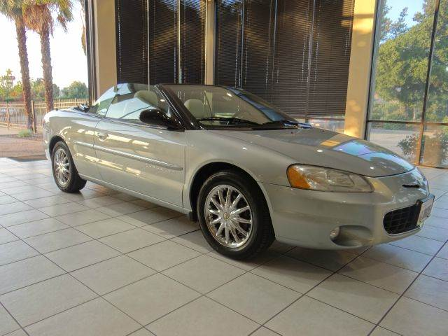 2001 CHRYSLER SEBRING LIMITED 2DR CONVERTIBLE blue abs - 4-wheel anti-theft system - alarm cass