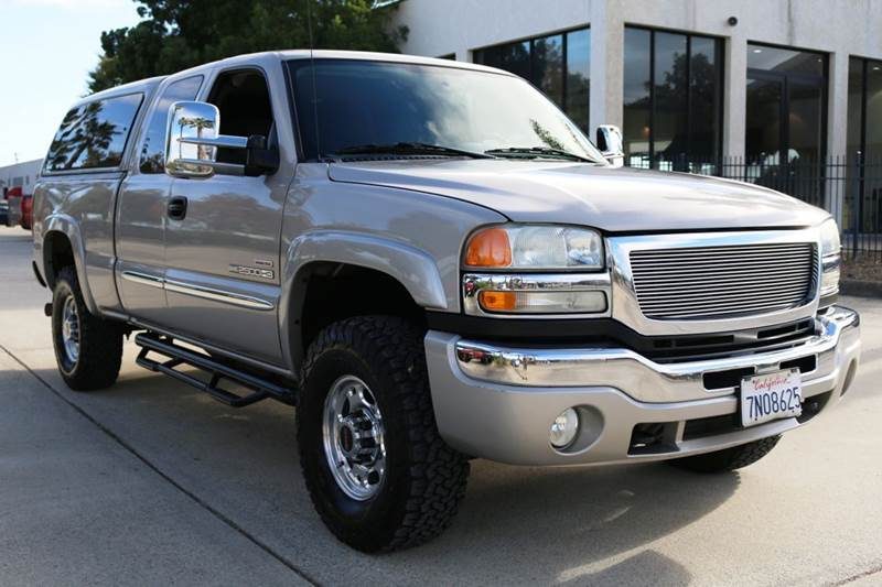 2004 GMC SIERRA 2500HD SLE 4DR EXTENDED CAB 4WD LB tan abs - 4-wheel anti-theft system - alarm