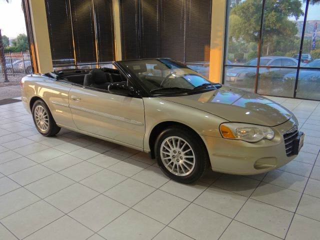 2006 CHRYSLER SEBRING TOURING 2DR CONVERTIBLE silver antenna type anti-theft system - engine imm