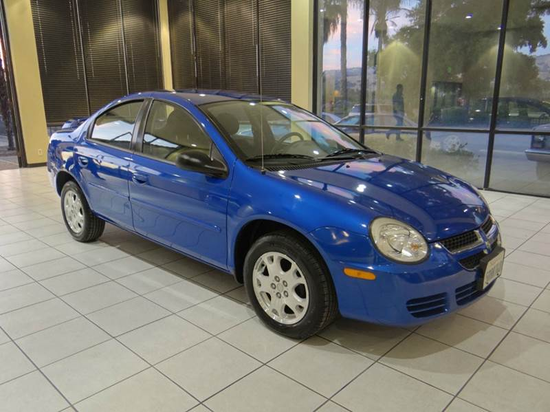 2005 DODGE NEON SXT 4DR SEDAN blue center console - front console with storage clock exterior m