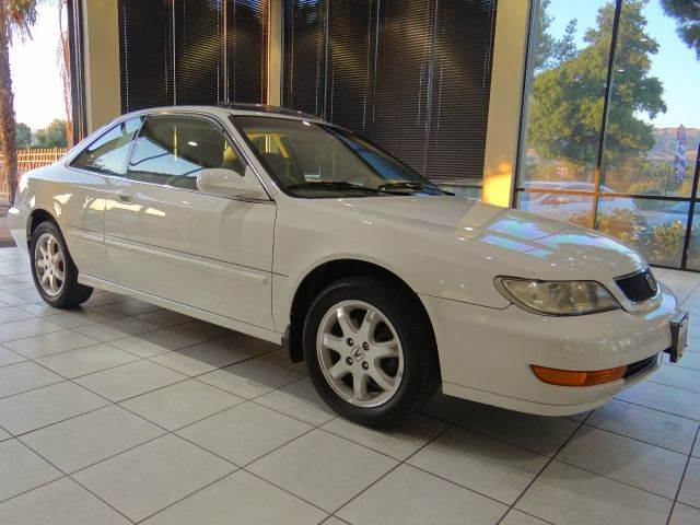 1998 ACURA CL 30 2DR COUPE white abs - 4-wheel anti-theft system - alarm center console clock