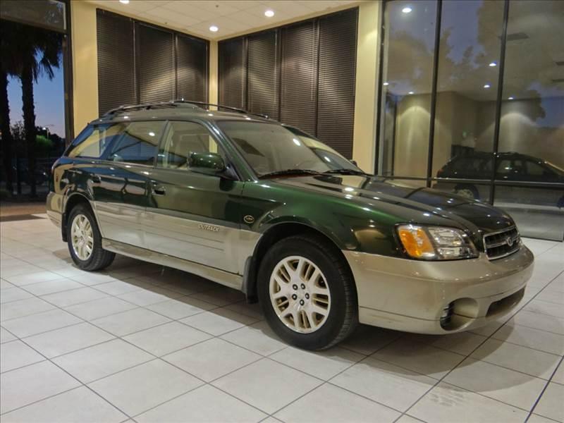 2001 SUBARU OUTBACK LL BEAN EDITION AWD 4DR WAGON green abs - 4-wheel anti-theft system - alar