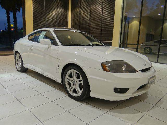 2006 HYUNDAI TIBURON GT 2DR HATCHBACK 27L V6 4A white abs - 4-wheel air filtration antenna t