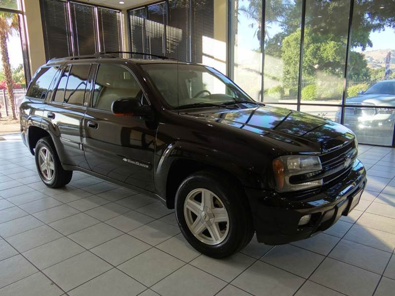 2002 CHEVROLET TRAILBLAZER LS 4WD 4DR SUV black abs - 4-wheel anti-theft system - alarm axle ra