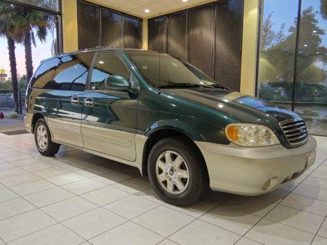 2003 KIA SEDONA EX 4DR MINIVAN green cassette center console clock cruise control driver seat