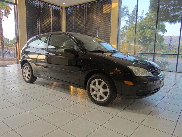 2005 FORD FOCUS ZX3 SE 2DR HATCHBACK black center console - front console with storage clock ex