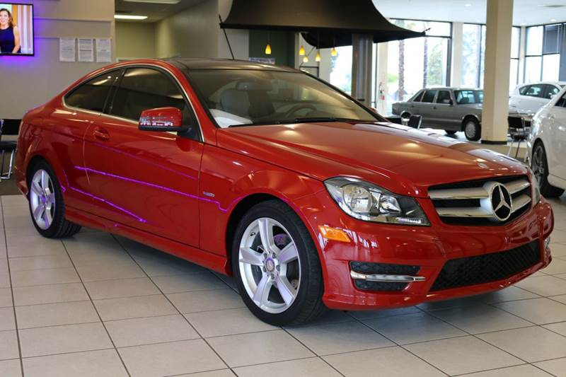 2012 MERCEDES-BENZ C-CLASS C250 2DR COUPE red abs - 4-wheel active head restraints - dual front