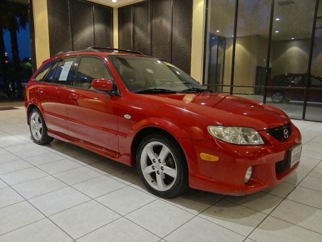 2002 MAZDA PROTEGE5 BASE 4DR WAGON red center console clock cruise control exterior entry ligh
