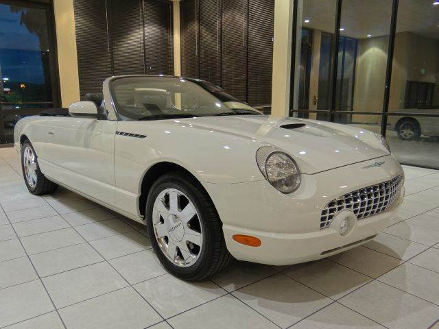 2002 FORD THUNDERBIRD DELUXE 2DR CONVERTIBLE white abs - 4-wheel anti-theft system - alarm cass
