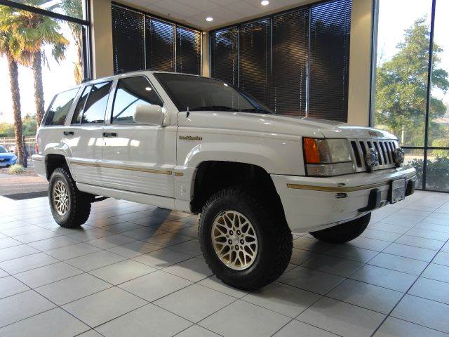 1995 JEEP GRAND CHEROKEE ORVIS 4DR 4WD SUV white abs - 4-wheel antenna type - power anti-theft