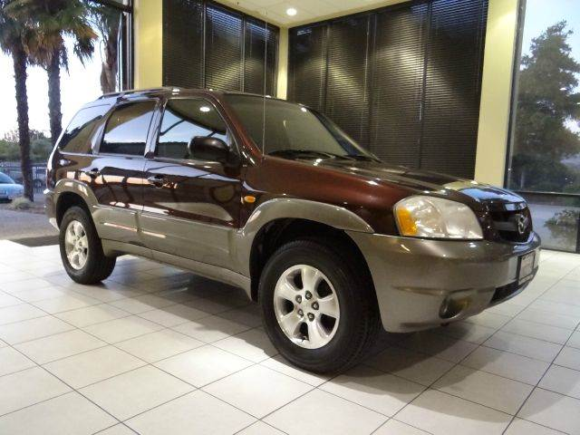 2001 MAZDA TRIBUTE ES-V6 4WD 4DR SUV maroon anti-theft system - alarm center console clock cru