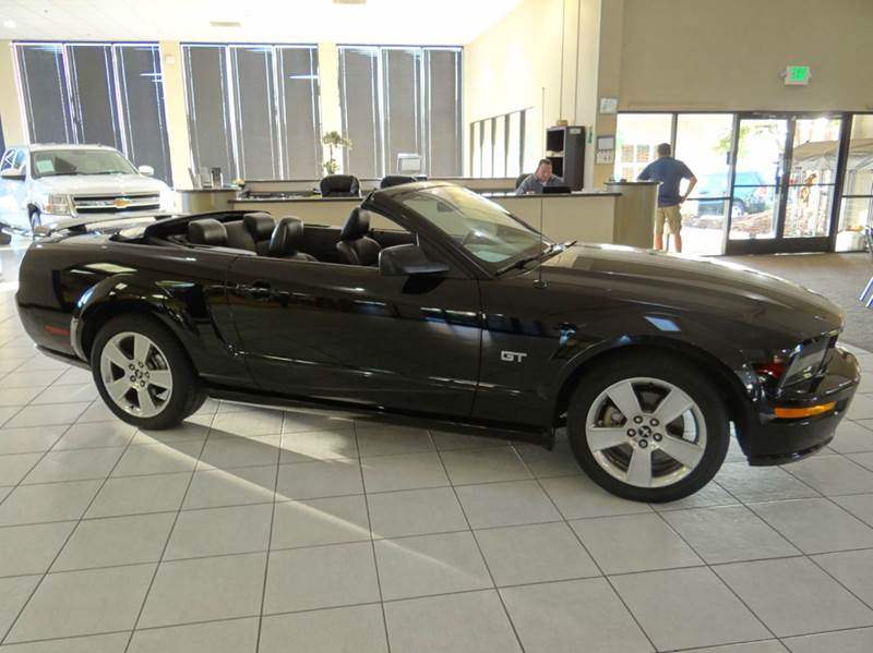 2006 FORD MUSTANG GT DELUXE 2DR CONVERTIBLE black abs - 4-wheel airbag deactivation - occupant s