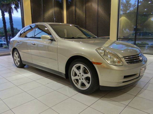 2003 INFINITI G35 BASE LUXURY 4DR SEDAN WLEATHER silver abs - 4-wheel anti-theft system - alarm