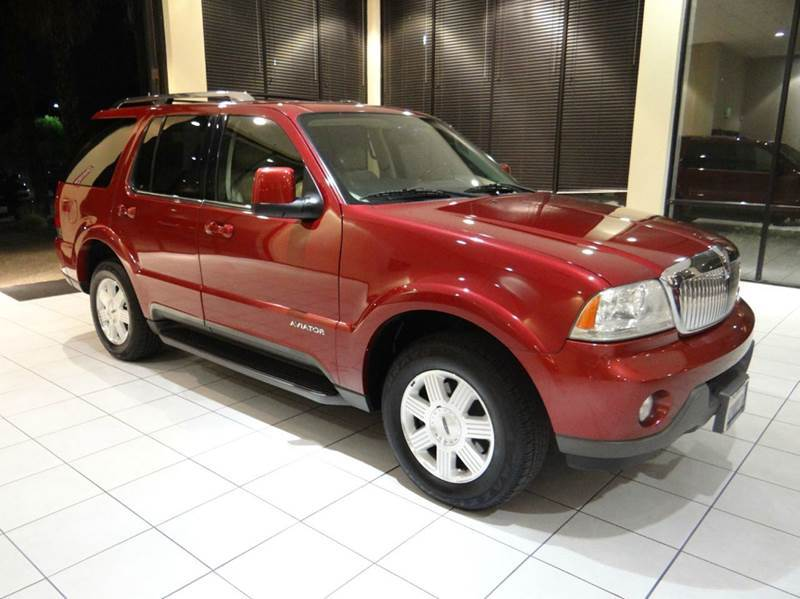 2005 LINCOLN AVIATOR LUXURY 4DR SUV maroon abs - 4-wheel adjustable pedals - power axle ratio -
