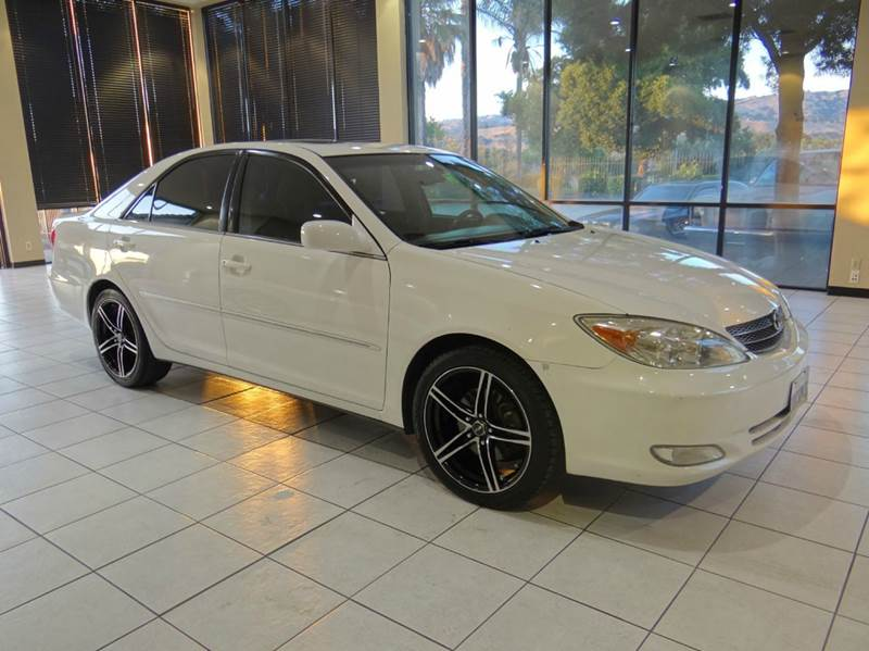 2003 TOYOTA CAMRY XLE V6 4DR SEDAN white abs - 4-wheel anti-theft system - alarm cassette cent