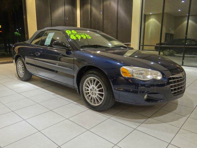 2006 CHRYSLER SEBRING TOURING 2DR CONVERTIBLE blue antenna type anti-theft system - engine immob