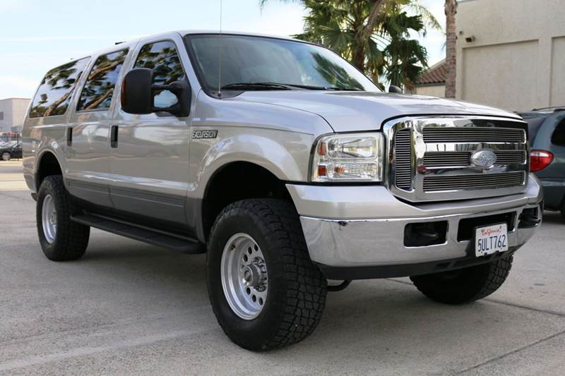 2005 FORD EXCURSION XLT 4DR SUV silver 68l v10 sohc 20v fi engine abs - 4-wheel anti-theft sys