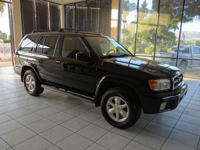 2001 NISSAN PATHFINDER LE 4WD 4DR SUV black abs - 4-wheel anti-theft system - alarm axle ratio