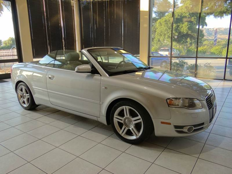 2007 AUDI A4 20T 2DR CONVERTIBLE 2L I4 CVT silver 2-stage unlocking - remote abs - 4-wheel a