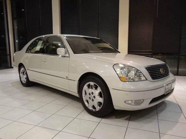 2003 LEXUS LS 430 BASE 4DR SEDAN white abs - 4-wheel anti-theft system - alarm cd changer cent