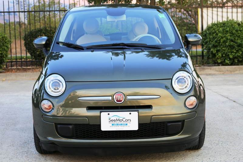 2013 FIAT 500 POP 2DR HATCHBACK green 2-stage unlocking doors abs - 4-wheel active head restrain