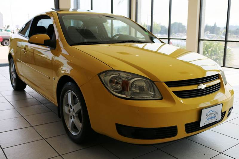 2008 CHEVROLET COBALT LT 2DR COUPE yellow chevrolet cobalt 2008 this cobalt is a flashy yellow s