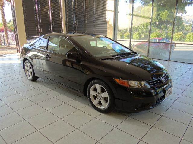 2007 HONDA CIVIC EX WNAVI 2DR COUPE WNAV black 2-stage unlocking - remote abs - 4-wheel air f