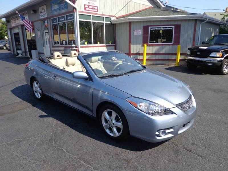 2008 toyota camry solara sle v6 2dr convertible 5a in cleveland oh richland motors. Black Bedroom Furniture Sets. Home Design Ideas