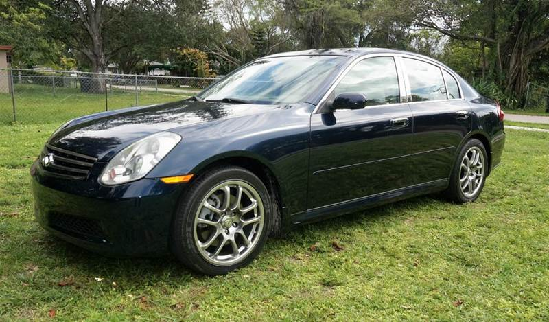 2006 INFINITI G35 BASE 4DR SEDAN WAUTOMATIC blue call 1-754-210-3703 for sales this vehicle