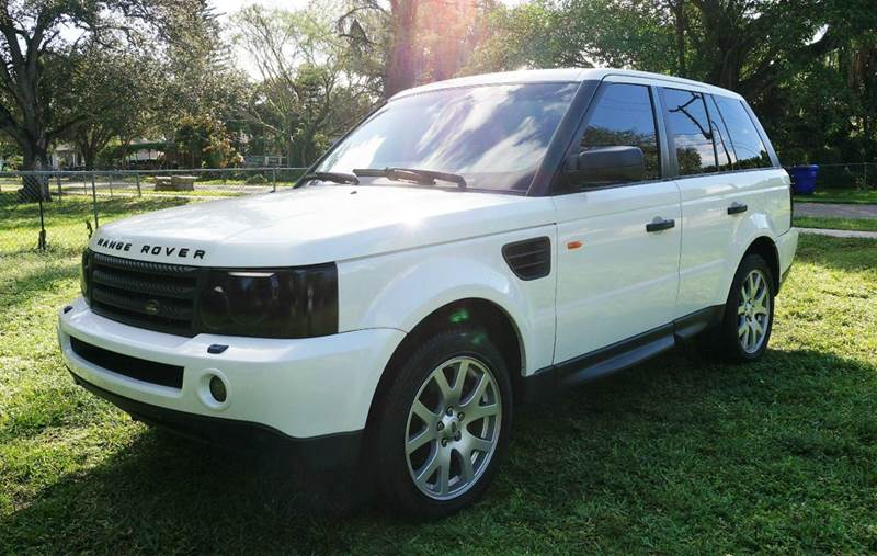 2007 LAND ROVER RANGE ROVER SPORT HSE 4DR SUV 4WD white call 1-754-210-3703 for sales this v