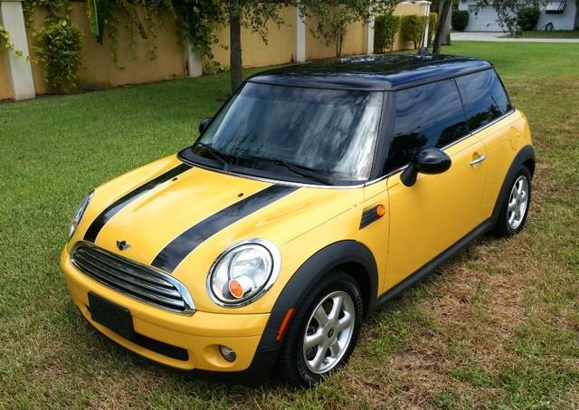 2008 MINI COOPER BASE 2DR HATCHBACK mellow yellow imperial capital cars is hollywood floridas 1