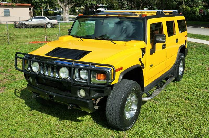 2004 HUMMER H2 LUX SERIES 4WD 4DR SUV yellow abs - 4-wheel anti-theft system - alarm axle ratio