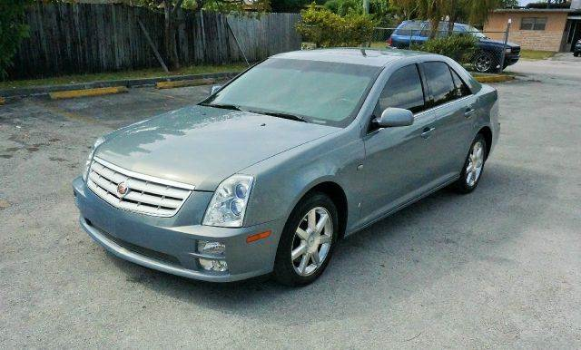 2007 CADILLAC STS V6 AWD 4DR SEDAN  36 6CYL 5A  blue 2-stage unlocking - remote abs - 4-wheel