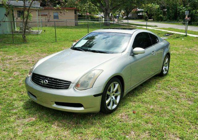 2004 INFINITI G35 LUXURY RWD 2DR COUPE WLEATHER silver abs - 4-wheel anti-theft system - alarm