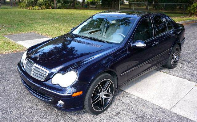 2005 MERCEDES-BENZ C-CLASS C240 4DR SEDAN blue abs - 4-wheel anti-theft system - alarm center c