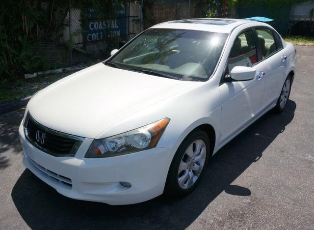 2008 HONDA ACCORD EX-L white diamond pearl imperial capital cars is hollywood floridas 1 used ca
