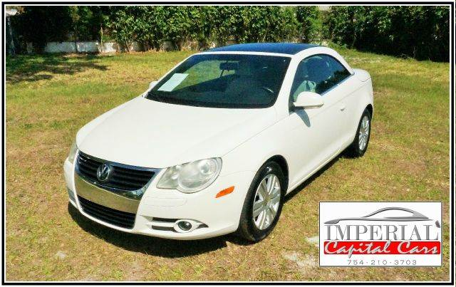 2008 VOLKSWAGEN EOS TURBO CONVERTIBLE white 2-stage unlocking - remote abs - 4-wheel air filtra