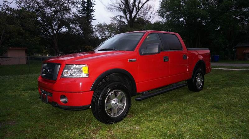 2006 FORD F-150 FX4 4DR SUPERCREW 4WD STYLESIDE red call 1-754-210-3703 for sales this vehi