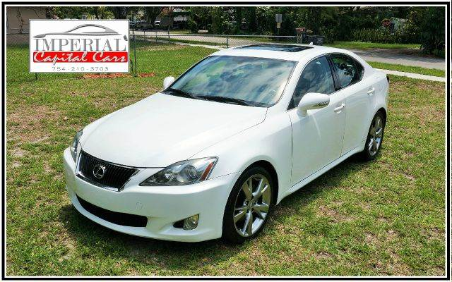 2009 LEXUS IS 250 BASE 4DR SEDAN 6A white 2-stage unlocking - remote abs - 4-wheel air filtrati
