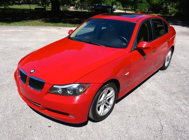 2008 BMW 3 SERIES 328I 4DR SEDAN crimson red imperial capital cars is hollywood floridas 1 used