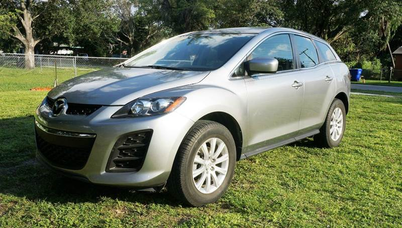 2011 MAZDA CX-7 I SV 4DR SUV silver call 1-754-210-3703 for sales this vehicle  runs great a