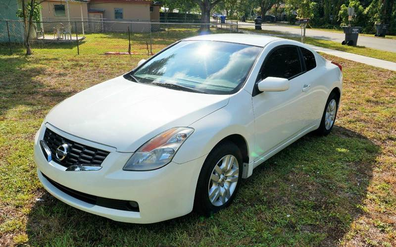 2009 NISSAN ALTIMA 25 S 2DR COUPE CVT white 2-stage unlocking abs - 4-wheel active head restra