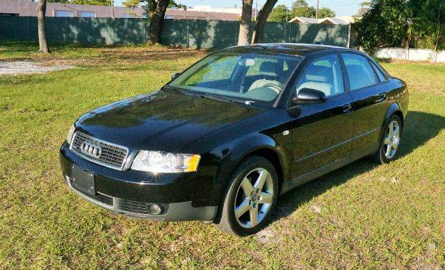 2004 AUDI A4 18T QUATTRO AWD 4DR SEDAN black call 888-503-0114 for sales  this audi a4 is fully