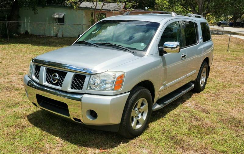2005 NISSAN ARMADA SE 4DR SUV silver abs - 4-wheel adjustable pedals - power anti-theft system