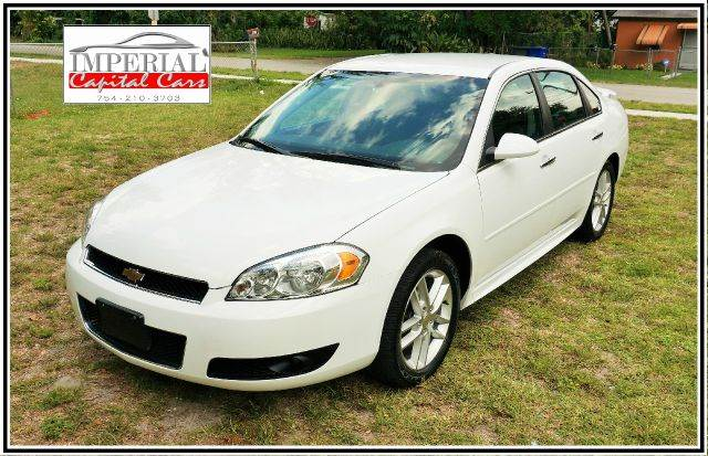 2013 CHEVROLET IMPALA LTZ 4DR SEDAN white call 1-754-210-3703 for sales this vehicle fully lo