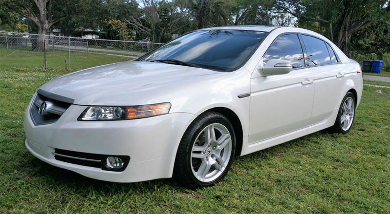 2008 ACURA TL BASE 4DR SEDAN white call 1-754-210-3703 for sales this vehicle fully loaded w