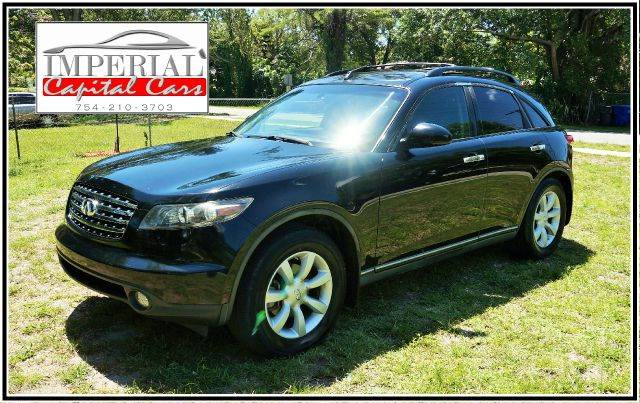 2005 INFINITI FX35 PREMIUM RWD 4DR SUV black call 888-503-0114 for sales  imperial capital