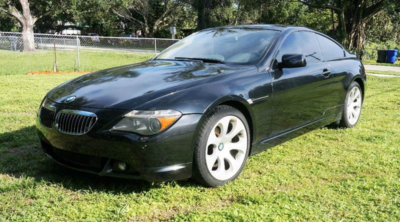 2005 BMW 6 SERIES 645CI 2DR COUPE black call 1-754-210-3703 for sales this vehicle fully lo