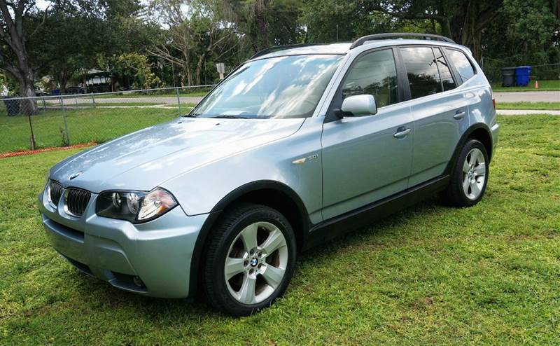 2006 BMW X3 30I AWD 4DR SUV blue call 1-754-210-3703 for sales this vehicle fully loaded w